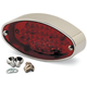 Chrome Oval LED Taillight - 400450