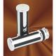 Chromed Dovetail Billet Grips - 7-22