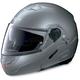 Metallic Arctic Gray N90 N-Com Modular Helmet