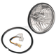 5 3/4 in. Diamond-Cut ICE Halogen Headlight w/Skull - T50100-SR