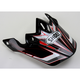 Black/Red/White VFX-W Malice Visor - 0245-6074-01