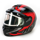 Black/Red/Black CL-16SN Voltage Helmet w/Electric Shield
