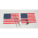 Angled License Plate Frame with 10 in. x 15 in. Flag Mount - RFMLPMA15