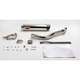 Underseat Oval Slip-On Extreme Muffler w/Polished Stainless Steel Muffler - EHA92SSOC