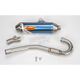 Factory 4.1 Blue Anodized Exhaust System w/Powerbomb Header - 045205