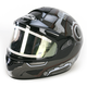Black/Gray/White CL-16SN Machine Helmet w/Electric Shield