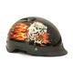 Black Vented Skull Heal Shorty Helmet