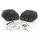 Desperado S4 Rigid-Mount Quick-Disconnect Saddlebags w/Integrated LED Marker Lights - 3501-0229-LES