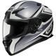 RF-1100 Chroma Black/Silver Helmet