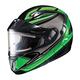 Black/Green/White CL-MAXIIBTSN Zader Modular Helmet w/Electric Shield
