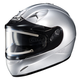 Metallic Silver IS-16SN Helmet w/Electric Shield
