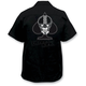 Spade Biker Skull Embroidered Work Shirt