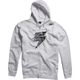 White/Gray Barbolt Fleece Zip Hoody