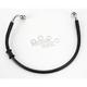 Rear Standard Length Black Vinyl Braided Stainless Steel Brake Line Kit - 1741-2925