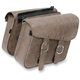 Compact slant Double Down Brown Saddlebags - 59766-00