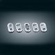 Chrome/Black Rocker Switch Cover Kit - 7235
