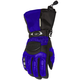 Womens Blue/Black Cascade Gloves
