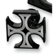 Gothic Back Cut Cross Enrichener Knob for S&S Carbs - SSBLKBCCROS