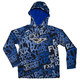 Youth Blue/White Grind Ridge Tri-Laminate Hoody