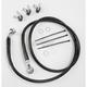 Front Standard Length Black Vinyl Braided Stainless Steel Brake Line Kit - 1741-2538
