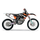 2011 Factory KTM Team Graphics Kit w/Seat Cover - 70226