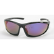 Black Safety C-120 Sunglasses w/Blue RV Lens - C-120BK/BLU