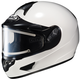 White CL-16SN Helmet w/Electric Shield