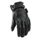 Women Jet Black Leather Gloves