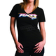 Womens Black Platform T-Shirt