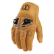 Tan Justice Leather Gloves