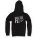 Black Ride It Zip Hoody