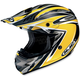 AC-X3 Agent Helmet /Adult/Yellow/Black/Flat Yellow/White/Female/Male