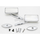 Chrome Square Billet Aluminum Blade Mirrors - S10260