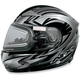 Multi Black FX-90S Snow Helmet w/Electric Dual-Lens Snow Shield