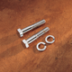 Universal Chrome Handlebar and Riser Mounting Bolts - 1/2 in.-20 x 3 in. Hex-Head Bolts - 05-11433