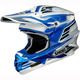 White/Blue/Black VFX-W Werx TC-2 Helmet