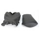Black Carbon Fiber Weave and Smooth Vinyl Performance Design Seat Kit w/Gel - 0910-H007J