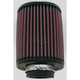 Universal Oval Clamp-On Air Filter - 3 3/4 in. x 4 1/2 in. Diameter x 6 in. Long - RU-1150