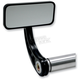 Black Rectangle Bar End Mirror w/ Curved Stem - 09-311-CB