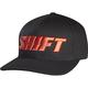Black/Red Flex-Fit Word Hat