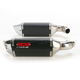 CS One Slip-On Muffler w/Black Muffler Sleeve - 40509