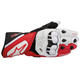 White/Red/Black GP Plus Leather Glove