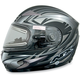 Multi Flat Black FX-90S Snow Helmet w/Electric Dual-Lens Snow Shield