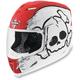 Airframe Crossbones Racer White Helmet