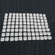 White .75 in. Single Pro Series Super Lite Backing Plates - 2513-P3-WHT
