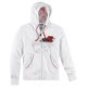 Womens White Heartbreaker Zip Hoody