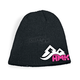 Womens Black/Pink Jewel Beanie - HM5JEWELP