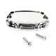 Rear Chrome Beveled Brake Master Cylinder Cover - 03-406