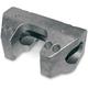 Natural Aluminum Alloy Handlebar Clamp Set for 1 1/2