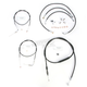 Black Vinyl Handlebar Cable and Brake Line Kit for Use w/15 in. - 17 in. Ape Hangers w/ABS - LA-8150KT-16B